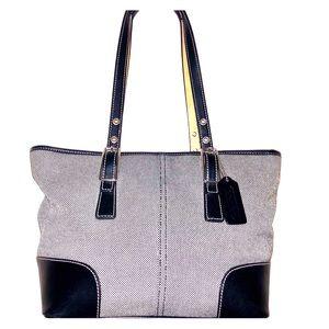 Coach Black and White Handbag M23-9558